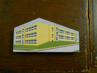 Apollo High School: Wooden replica
