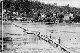 low water ferry