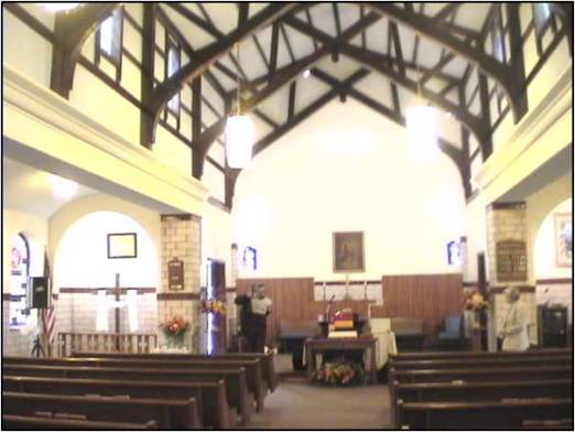 inside of church